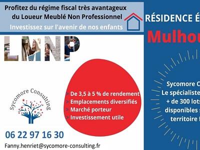 Résidence étudiante A VENDRE - MULHOUSE - 18,01 m2 - 59368 €