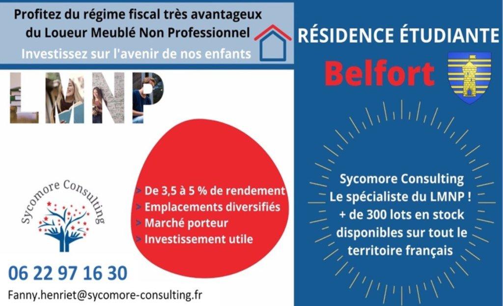 Résidence étudiante A VENDRE - BELFORT - 18,01 m2 - 59368 €