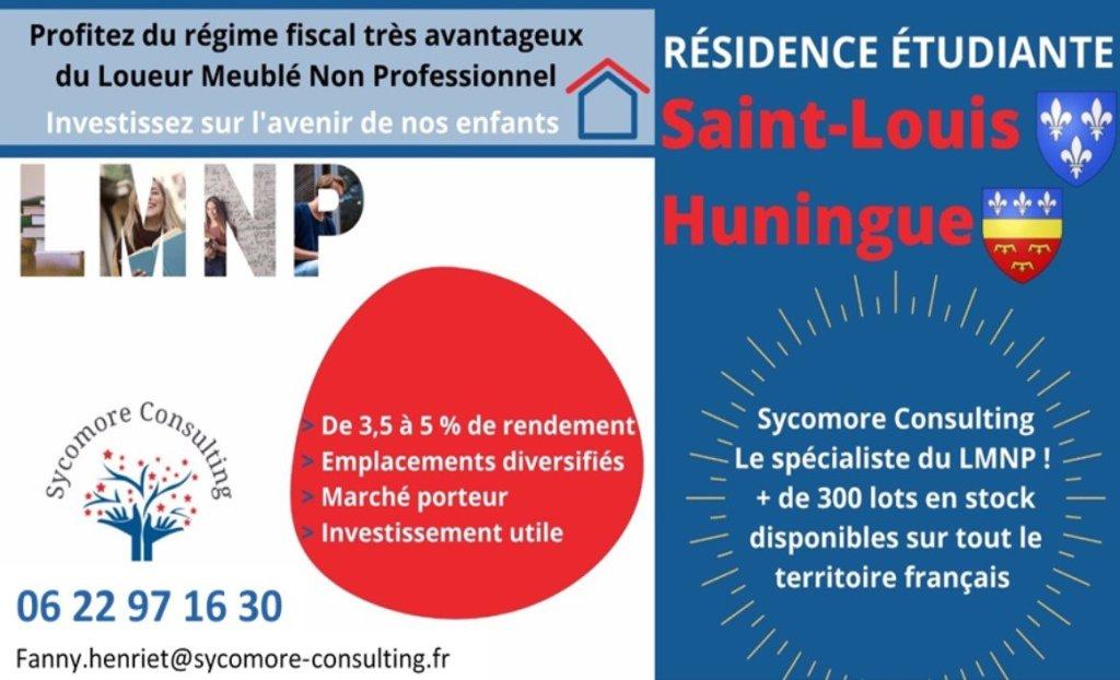 Résidence étudiante A VENDRE - ST LOUIS - 18,01 m2 - 59368 €