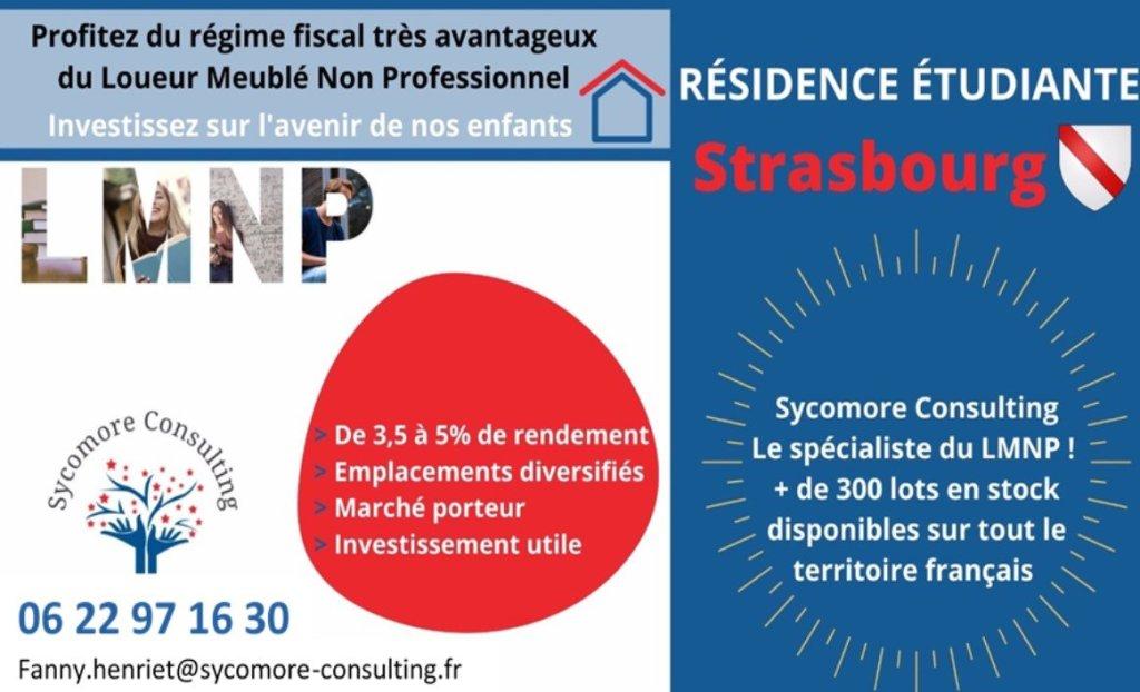 Résidence étudiante A VENDRE - STRASBOURG - 18,01 m2 - 59368 €